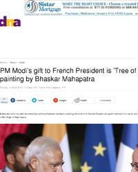 Pm Modi S Gift To French President Is Tree Of Life